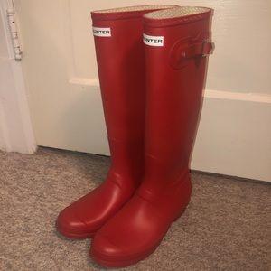 Hunter Original Tall Military Red Rain Boots